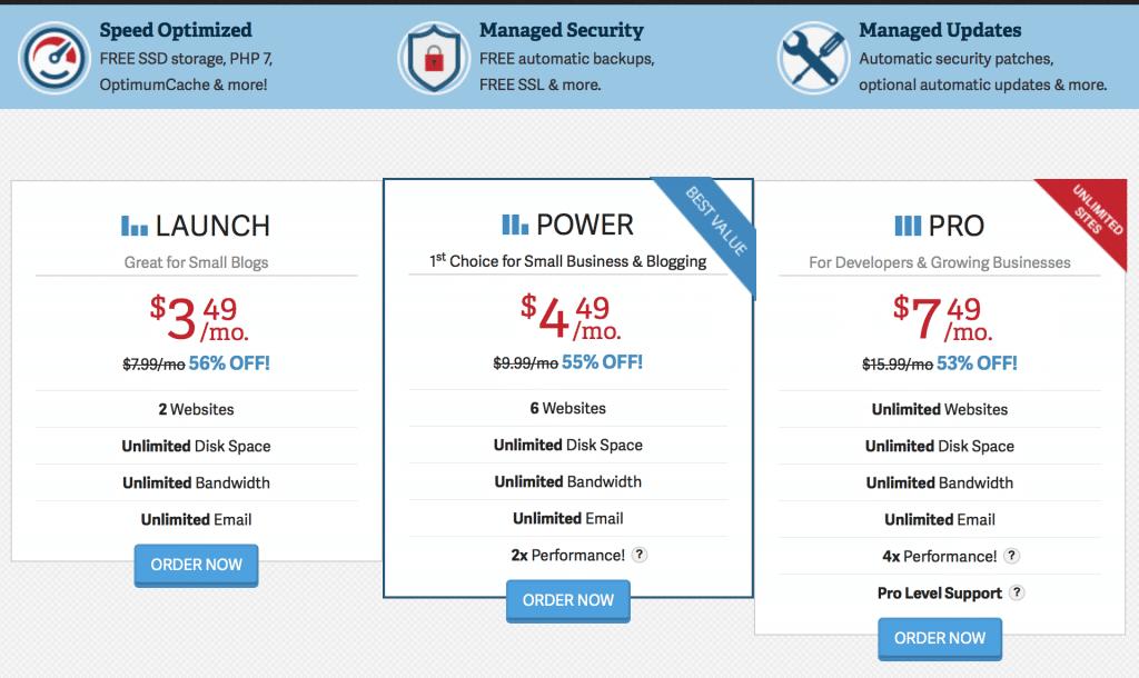 $3.49 per month hosting