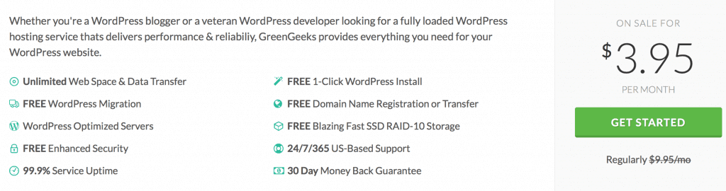 GreenGeeks SSD features