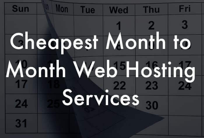 Month-to-month web hosting services