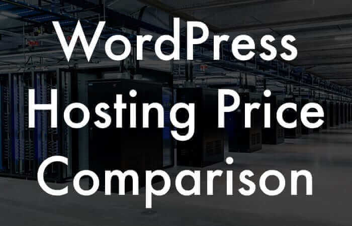 WordPress Hosting Price Comparison