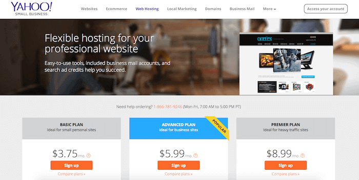 Yahoo Small Business Web Hosting Review