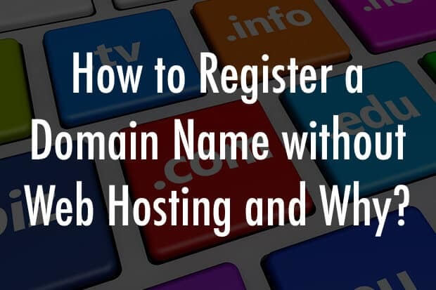 domain name without hosting