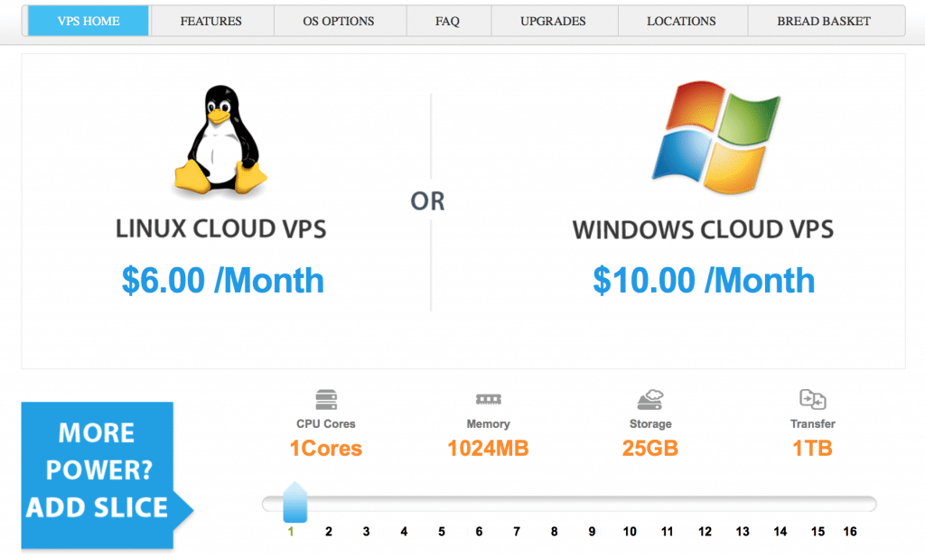 Linux or Windows VPS plans