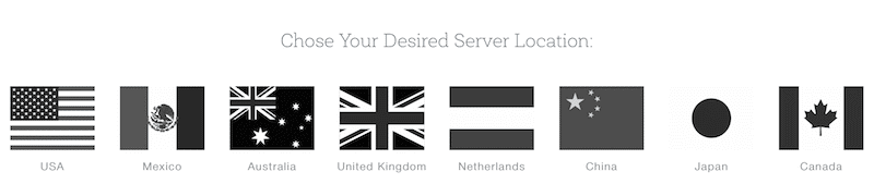 Chose your server location