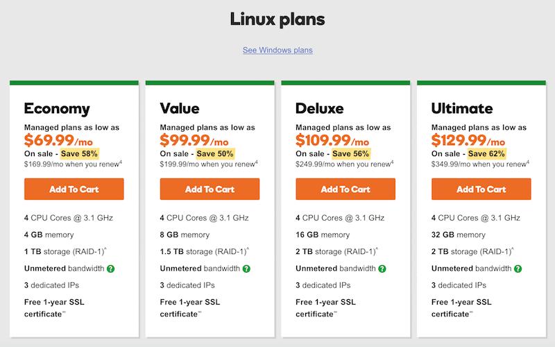 Linux server plans