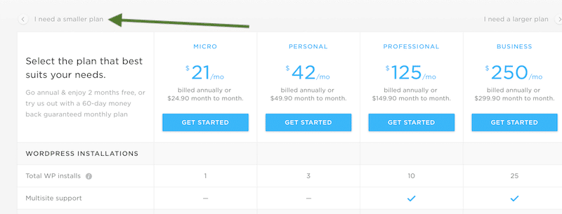 month to month hosting prices