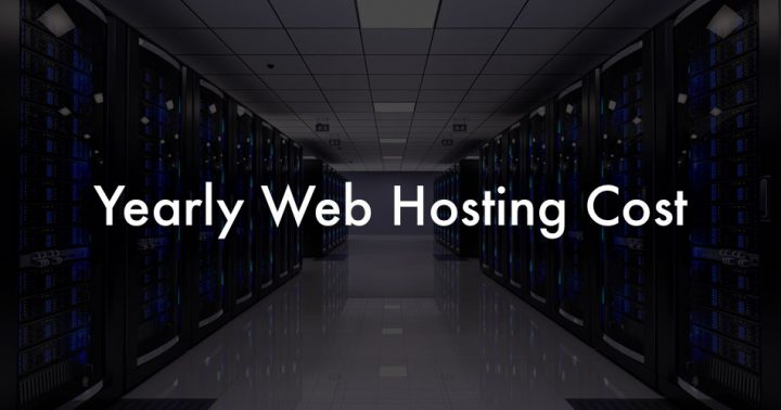 yearly web hosting cost