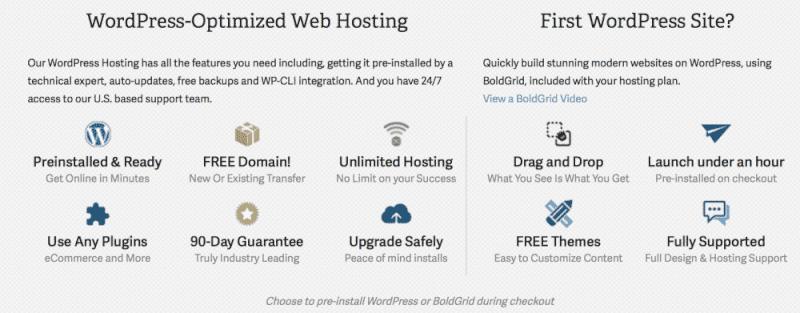 Cheap WordPress hosting features