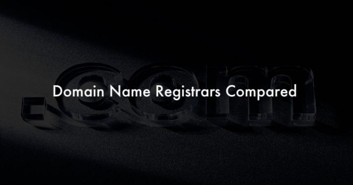 domain name registrars compared